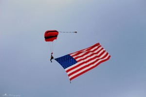 Sussex Sky Dive brings the flag
